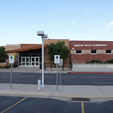 Front Exterior of Shadow Valley Elementary.